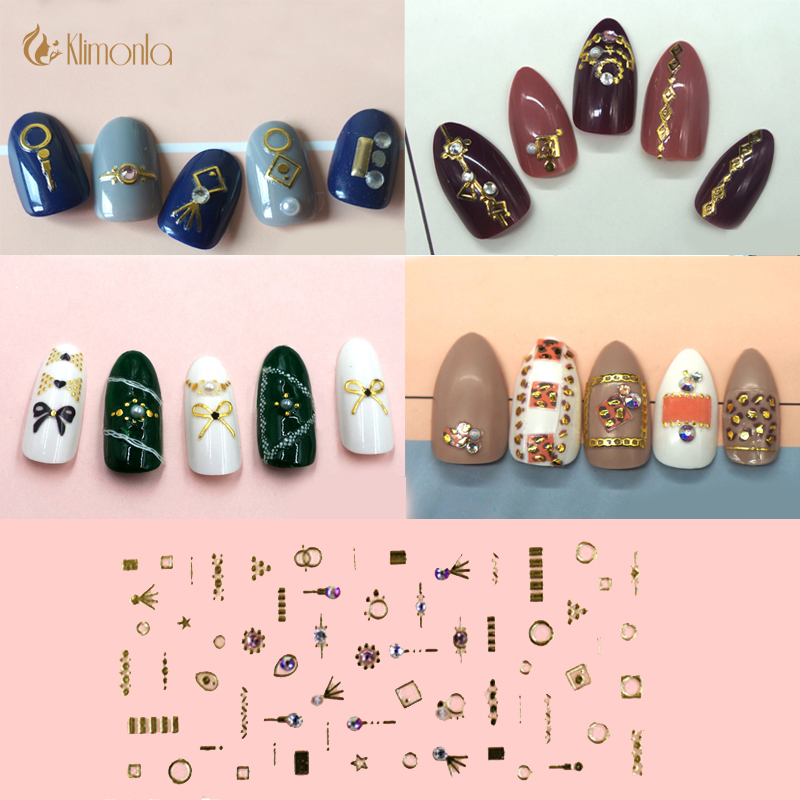 design 3d colorful nail art