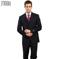 MOGU Solid Two Piece Men's Suits 2017 New Slim Fit High Quality Fashion Pure Color Formal Suits For Men Asian Size 4XL Men Suits