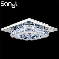 SANYI Minimalist Crystal Ceiling Lamp LED Aisle Corridor Balcony Dining Room Lighting Fixture Warm White/White Light