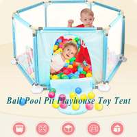 Ball Pool Pit Playhouse Toy Tent For Kids Play House Outdoor Indoor Easy Folding Portable GameTent Play Hut Girls Garden