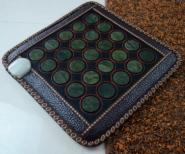 Wholesale Heated Seat Pad Jade  Heat Mat Office Heat Seat Cushion Health Care Pad Jade Massage Pad for Christmas Gift 45*45CM