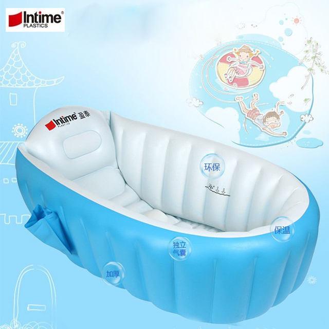 Portable Bathtub Inflatable Bath Tub Child Tub Cushion + Foot Air Pump Warm  Winner Keep Warm Folding Portable Bathtub