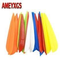 100pcs Archery Arrow Feather  3 Drop Shape Rubber TPU Fletching Vanes Hunting Accessory