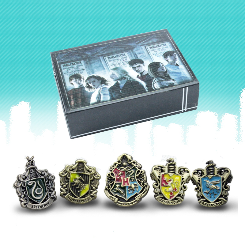 Milky Way Potter Badge 5 Pieces In 1 Box Hogwarts Potter Badge Ravenclaw Gryffindor Hufflepuff Slytherin