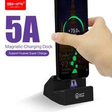 Magnetyczny ładowarki do telefonów dla Huawei p20 lite mate 20 Honor supercharge 5A bezprzewodowe i szybkie stacja do ładowania stacja dokująca