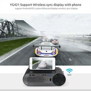 Image 3 - AAO YG420 מיני הוביל 720 P מקרן Native 1280x720 נייד אלחוטי WiFi רב מסך וידאו Beamer YG421 3D g500 1080P מקרן
