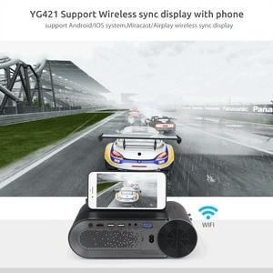Image 3 - AAO YG420 Mini LED 720 P projektör yerli 1280x720 taşınabilir kablosuz WiFi çoklu ekran Video Beamer YG421 3D g500 1080P projektör