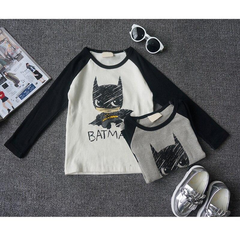 2016 New autumn fashion baby boys girls t shirt 100% cotton superman batman fall children clothing kids t-shirt top tee