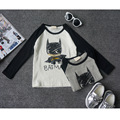 2016 Nova moda outono do bebê das meninas dos meninos t shirt 100% algodão superman batman crianças queda roupas crianças t-shirt top tee