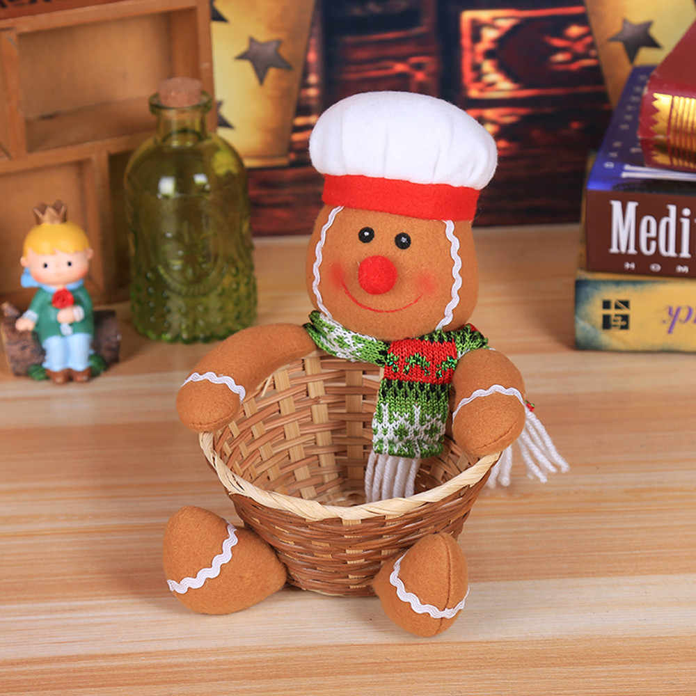 Frohe Weihnachten Süßigkeiten Lagerung Korb Dekoration Santa Claus Lagerung Korb Nov5 Drop Schiff
