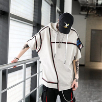 2019 Summer T shirt Men Harajuku personality decoration Cotton Oversize Short Sleeve T Shirt Fashion Casual Tops Tees US Size