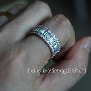 Image 5 - Choucong מלא נסיכה לחתוך אבן 5A זירקון אבן 10KT לבן גולדפילד אירוסין טבעת נישואים טבעת סט Sz 5  11 מתנה