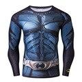 Бэтмен Tee Мужчины Сжатия Рубашка Фитнес Жесткой Crossfit Quick Dry С Длинным Рукавом Футболка Зима Мужской Топы Clothing
