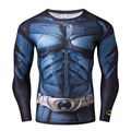 Batman Tee Men Compression Shirt Fitness Tight Crossfit Quick Dry Long Sleeve T-shirt Winter Male Tops Clothing