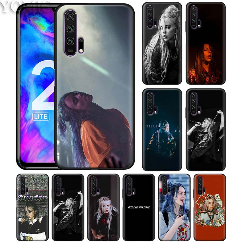 Black Silicone Case for Honor 20 8X 10 10i 8S 8A Lite Pro Y9 Y7 Y6 Y5 Prime 2019 Soft Phone Caso Cover Billie Eilish Independent