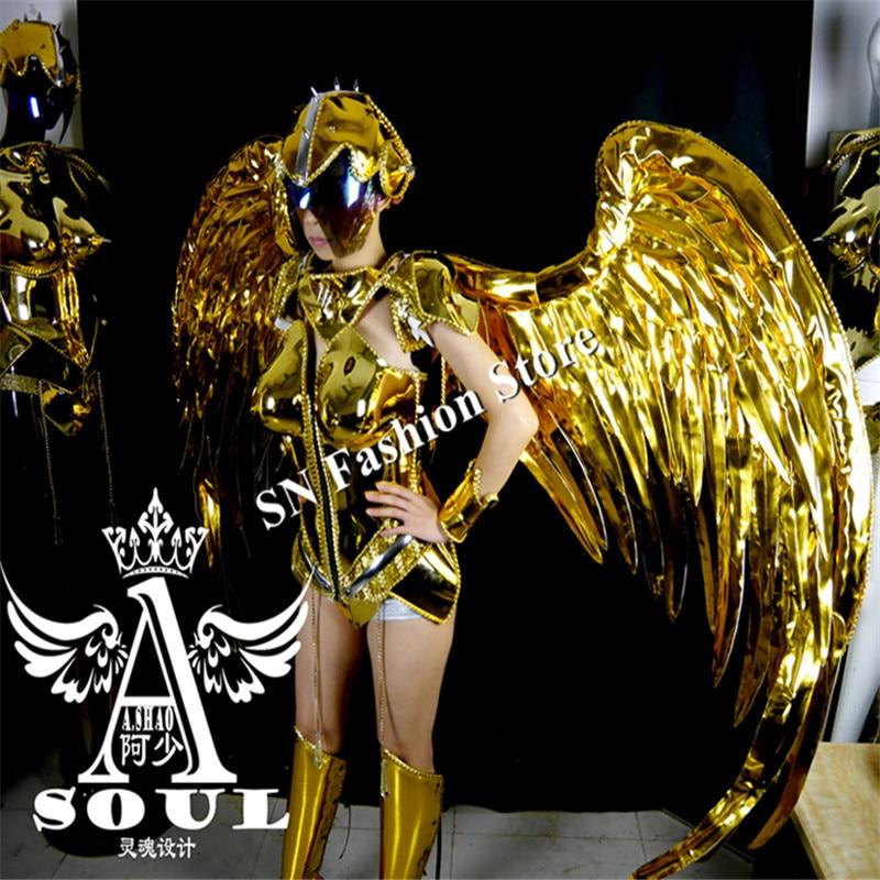 ES001 Vestido de baile de espejo dorado / disfraces / Ropa de alas de - Para fiestas y celebraciones - foto 6