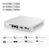 Windows 10 64 bit Mini Computer Intel Core i3 7100U i5 7200U i7 7500U Mini PC Intel UHD graphics 4K HD output Gaming Computer