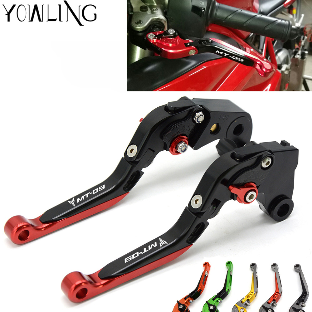 For YAMAHA FZ-09 FJ-09 MT-09 SR MT09 MT 09 MT-09 Tracer 2014-2017 Motorcycle Accessories Folding Extendable Brake Clutch Levers велоседло selle royal 2014 becoz relaxed sr
