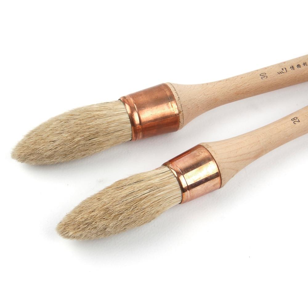 bristle round paint brushes oil paint brush set oil painting mallet