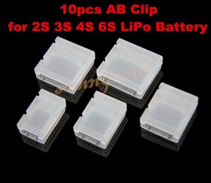10pcs (2S 3S 4S 6S) RC LiPo <font><b>Battery</b></font> AB <font><b>Clip</b></font> Buckle LiPo <font><b>Battery</b></font> Balance Plug Connector Protector