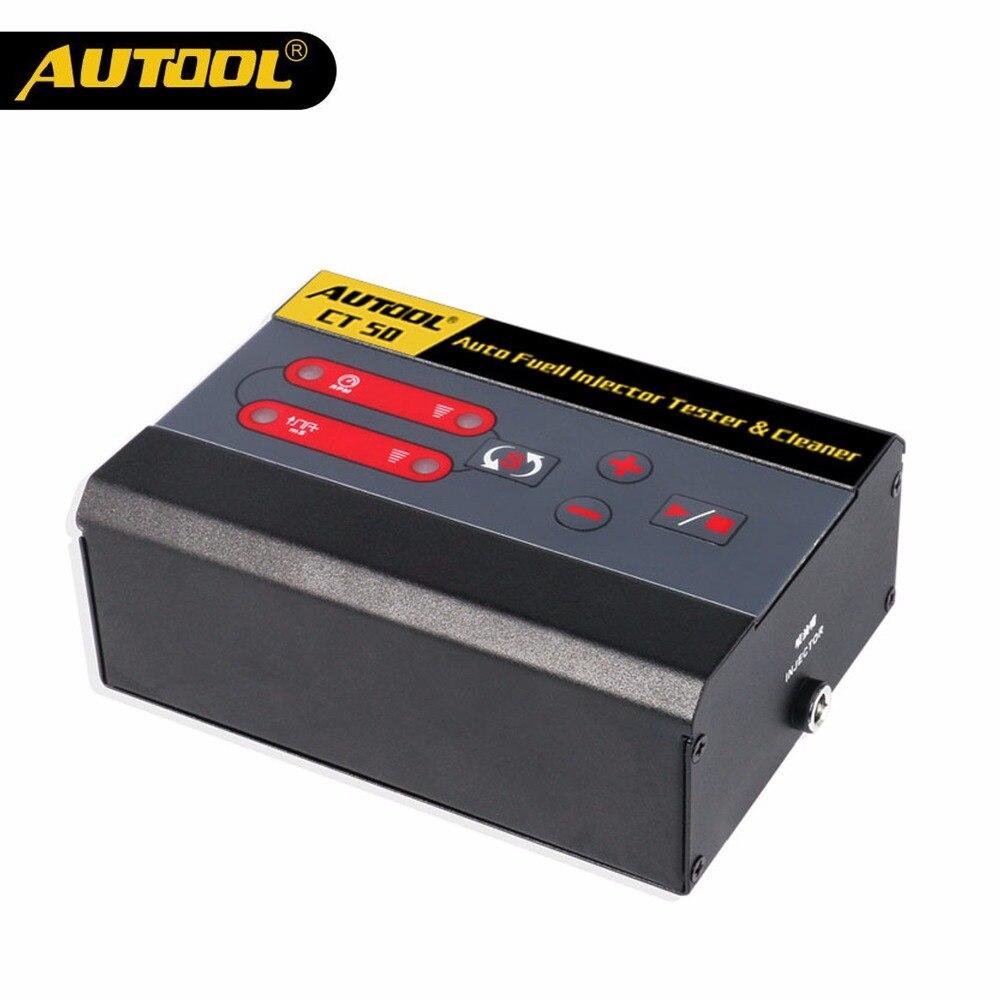 AUTOOL CT50 автомобильный топливный инжектор тест er топливный насос давление Тест автомобильный дизельный газ форсунки насадки неограниченный ...
