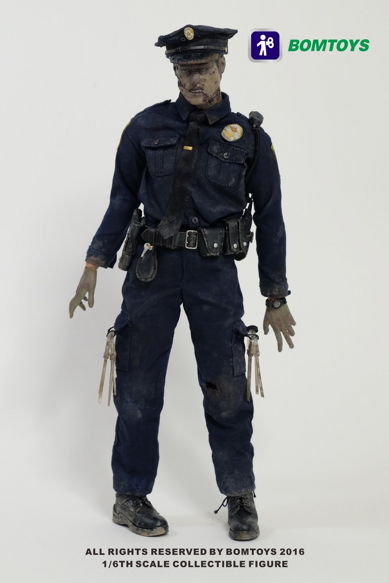 BOMTOYS BT003 Police Officer Zombie 1 6 Figure