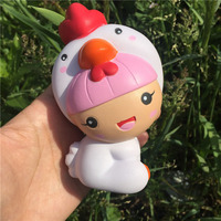 Cindiry Key Chain 11CM Cute Squishy Toy Chicken Baby Phone Straps Slow Rising Soft Squeeze Accessories Fun Joke Toy P2