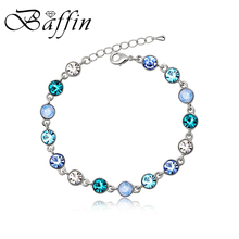 Baffin New Design for Women Must-have 3 Colors Multi Crystal From SWAROVSKI Bracelet for Mother's Day Gift
