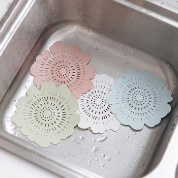 Filtro de drenaje de silicona para fregadero, tapón receptor de cabello de la bañera, filtro de drenaje para la ducha, trampa para el fregadero, filtro para la cocina, baño