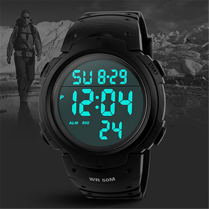 Fashion Sport Watch Men Waterproof Alarm Calendar Timer Luminous Electronic LED Digital Wrist Watch Male Clock For Men Relogio ac85 265v 100w led high bay light 100w led warehouse lamp cob bridgelux chip 1 100w led industrial lighting lamp