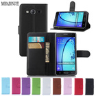 Luxury Wallet Flip PU Leather Case Cover For Samsung Galaxy On5 G550 Case G5500 Cell Phone Shell Back Cover With Card Holder