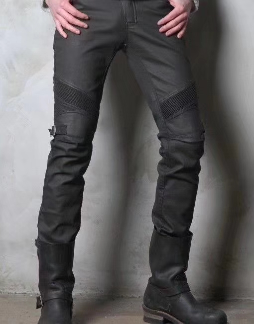 uglyBROS oil wax coated windproof jeans motorcycle pants men's cycling jeans moto protective jeans