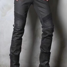 Jeans Uglybros Motorcycle-Pants Protective Cycling Windproof Men Coated Oil-Wax Men's
