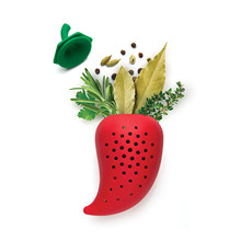 Creative pepper shape spice filter soup silicone sauce bag kitchen practical gadgets