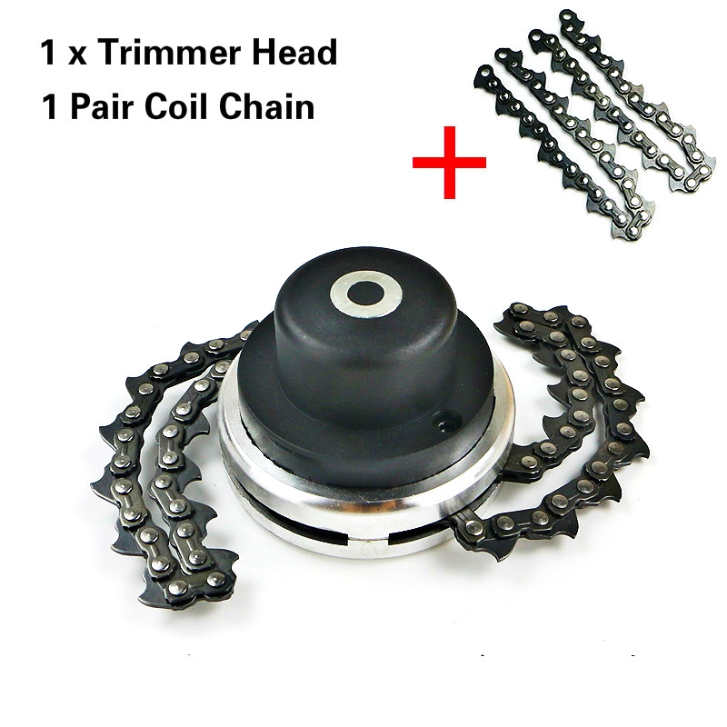 Universal 65Mn Trimmer Head Coil Chain Brush Cutter Garden Grass Trimmer Head Upgraded With Thickening chain For Lawn Mower Скульптура