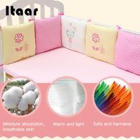6Pcs/Set Baby Crib Cot Bumper Cushion Infants Bedding Safety Breathable