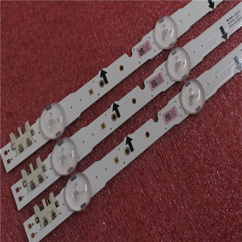 (New Kit)6pcs 7LEDs 650mm LED Backlight Strip For Samsung 32Inch TV 2014SVS32HD D4GE-320DC0-R3 BN96-35208A 30448A 30446A 30445A