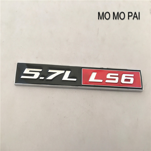 5.7L LS6 Car Badge Sticker Emblem fit for Corvette Camaro Firebird ...