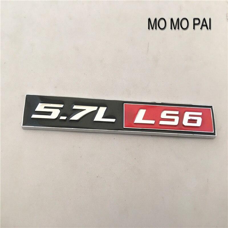 5.7L LS6 Car Badge Sticker Emblem fit for Corvette Camaro Firebird Trans Am LS LSX