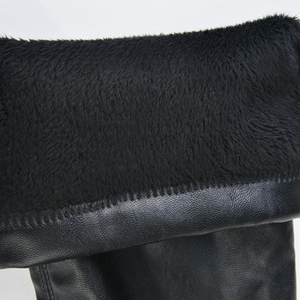Image 5 - أحذية النساء ضئيلة أنيقة طويل فوق الركبة PU أحذية عالية الساق من الجلد الأزياء الدافئة زائد المخملية الفخذ عالية أحذية 2019 إمرأة عارضة للماء