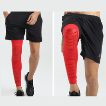 Leg Sleeves Knee Pads Slim Lengthen Calf Protector Sleeve Honeycomb Compression Warmers Football Shin Guard