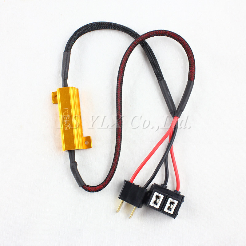 2pc H1 H3 H7 H8 H9 H11 9005 9006 880 error free led fog lamp load resistor 50w 6ohm no flickering warning canceller for fog lamp 2pcs car led headlight decoder fog light drl no error load resistor no flickering warning canceller 9005 9006 hb3 hb4