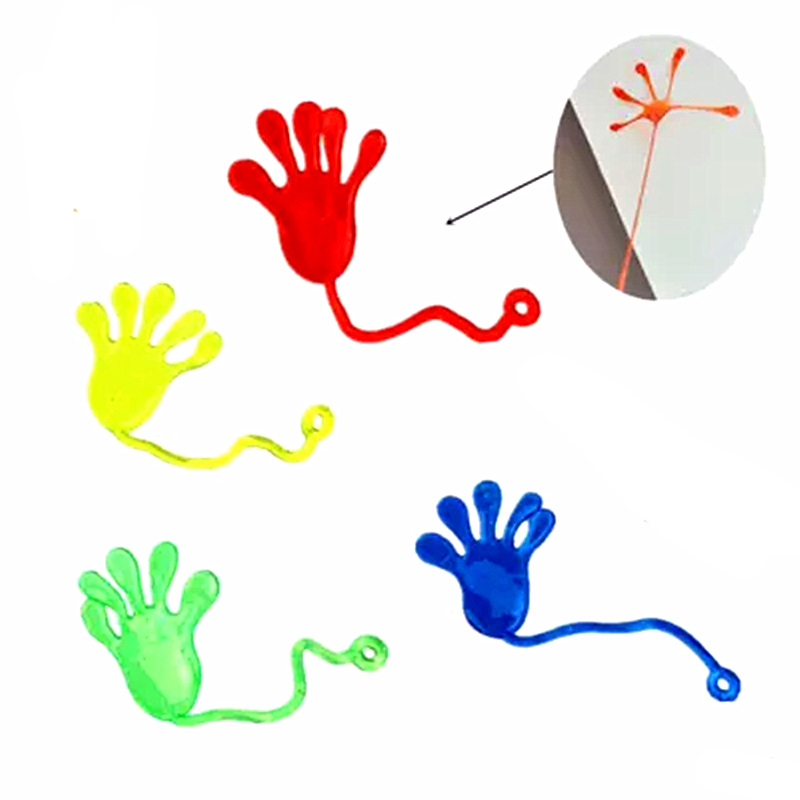 Sticky Palm Kids Sticky Hands Palm Party Favor Toys Slime Viscous Climbing Novelties Prizes Birthday Gifts Random Color