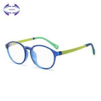 17b198ce04 VCKA niños TR90 gafas de silicona montura gafas ultraligeras niños Anti-Luz Azul  niño niña juego de ordenador gafas protectoras
