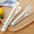 1PC Stainless Steel Kitchen Tongs BBQ Clip Food Tongs Pizza Bread Dessert Server Steak Salad Buffet Serving Clip Kitchen Tools