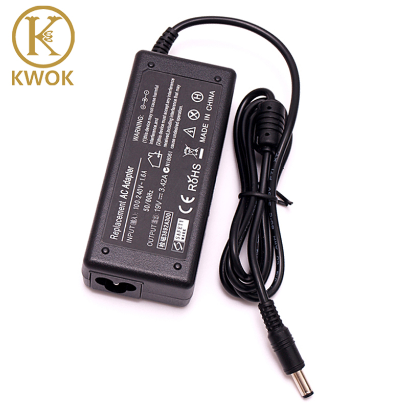 19 V 3.42A 5.5X2.5mm Laptop Charger AC Adapter Power Supply Untuk Acer Asus laptop A43E X43BU S-7200 SADP-65KB Charger Portabel