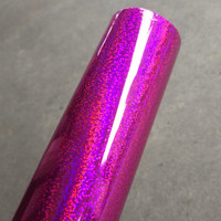 Holographic foil hot stamping foil hot press on paper or plastic purple Crystal Point pattern heat transfer film 64cm x 120m