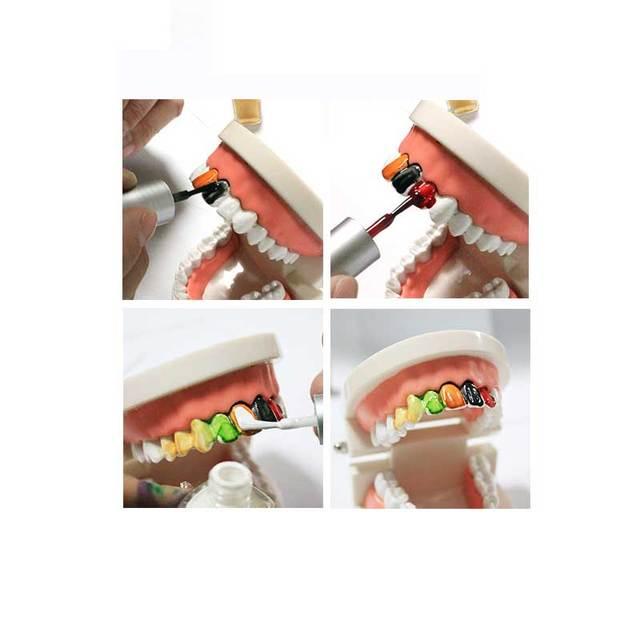 Zahn malerei 2017 Neue 6 Farben Tattoo Gesicht Körperfarbe auf Zahn ...