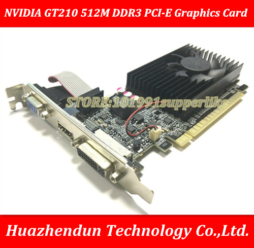 DEBROGLIE 1PCS Brand New Full height NVIDIA GeForce 210 512M DDR3 PCI E ATX GT210 Graphics