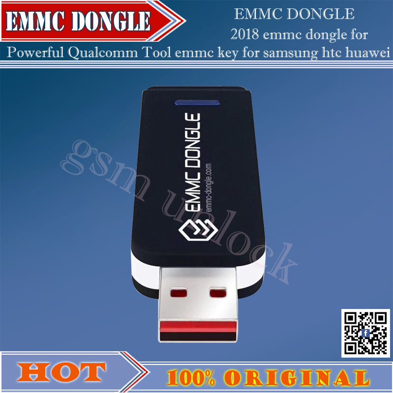 gsmjustoncct 2018 ORIGINAL NEW EMMC Dongle FOR Powerful Qualcomm Tool